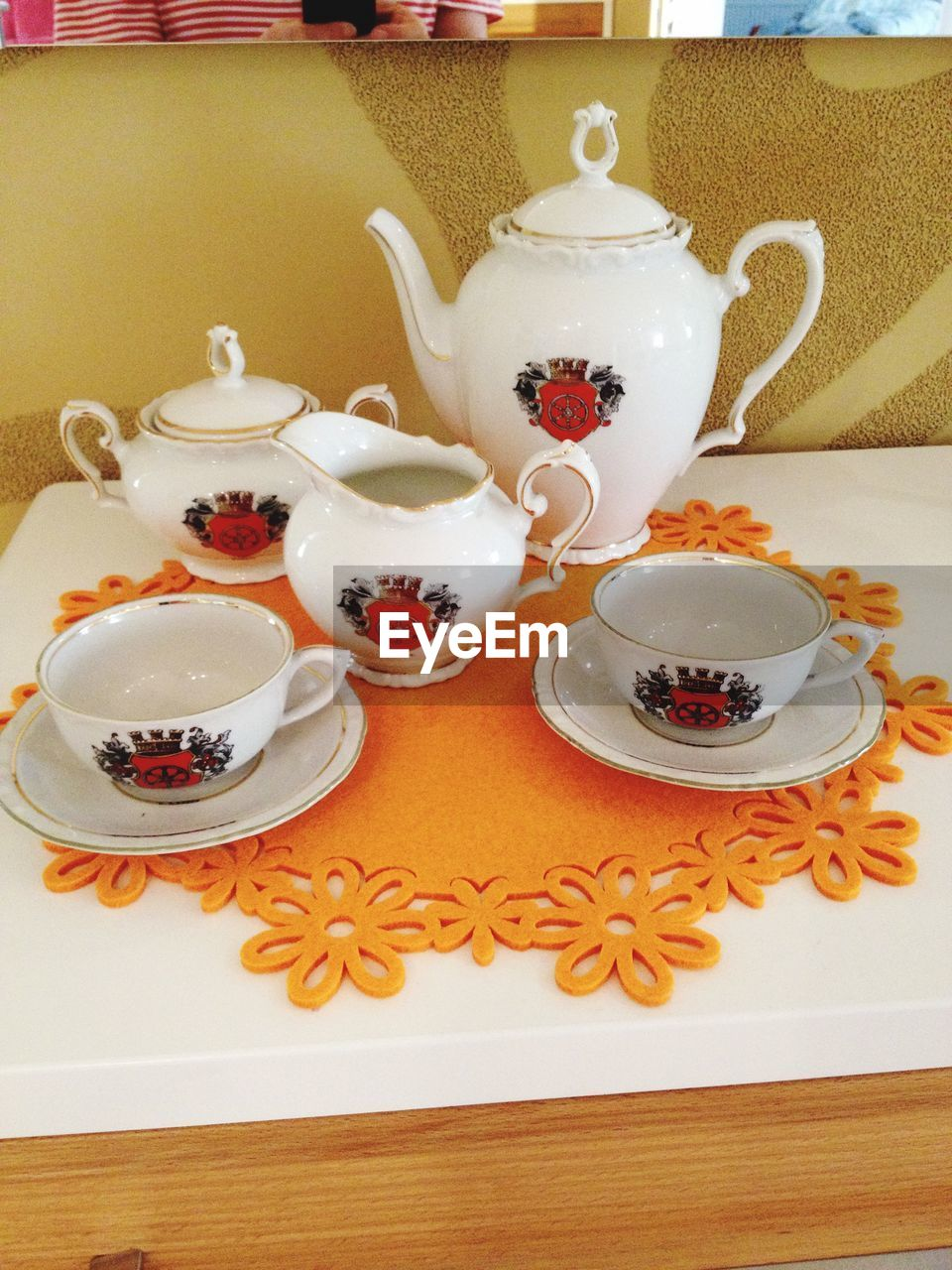 teapot, refreshment, tea cup, food and drink, tea - hot drink, table, plate, drink, indoors, no people, saucer, food, freshness, healthy eating, tablecloth, sweet food, dessert, ready-to-eat, close-up, day