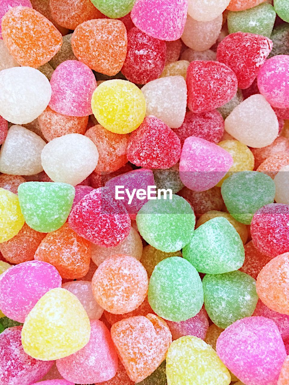Full frame shot of colorful sugar candies
