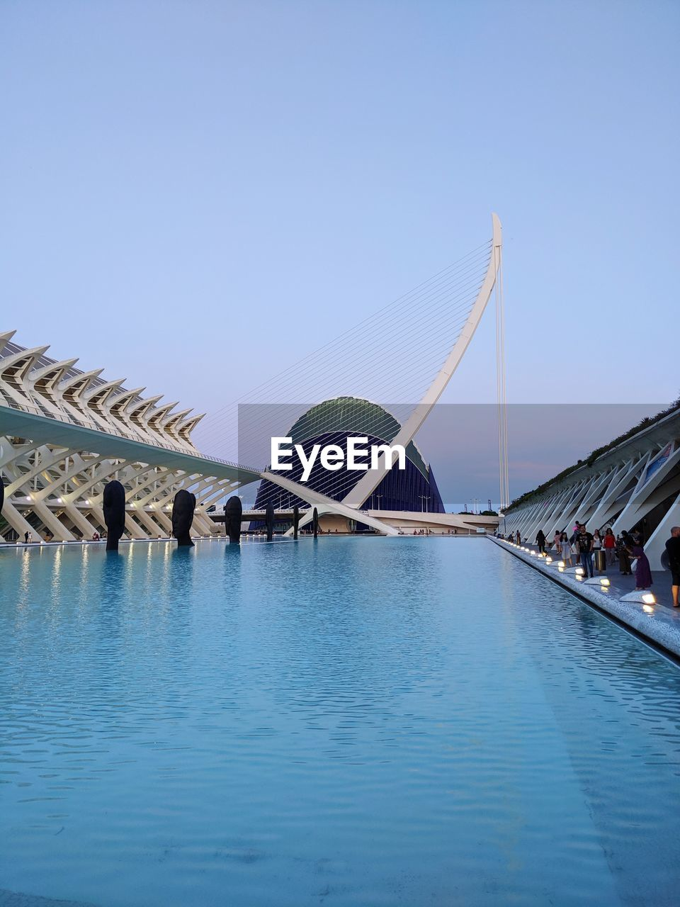 View of swimming pool against clear sky