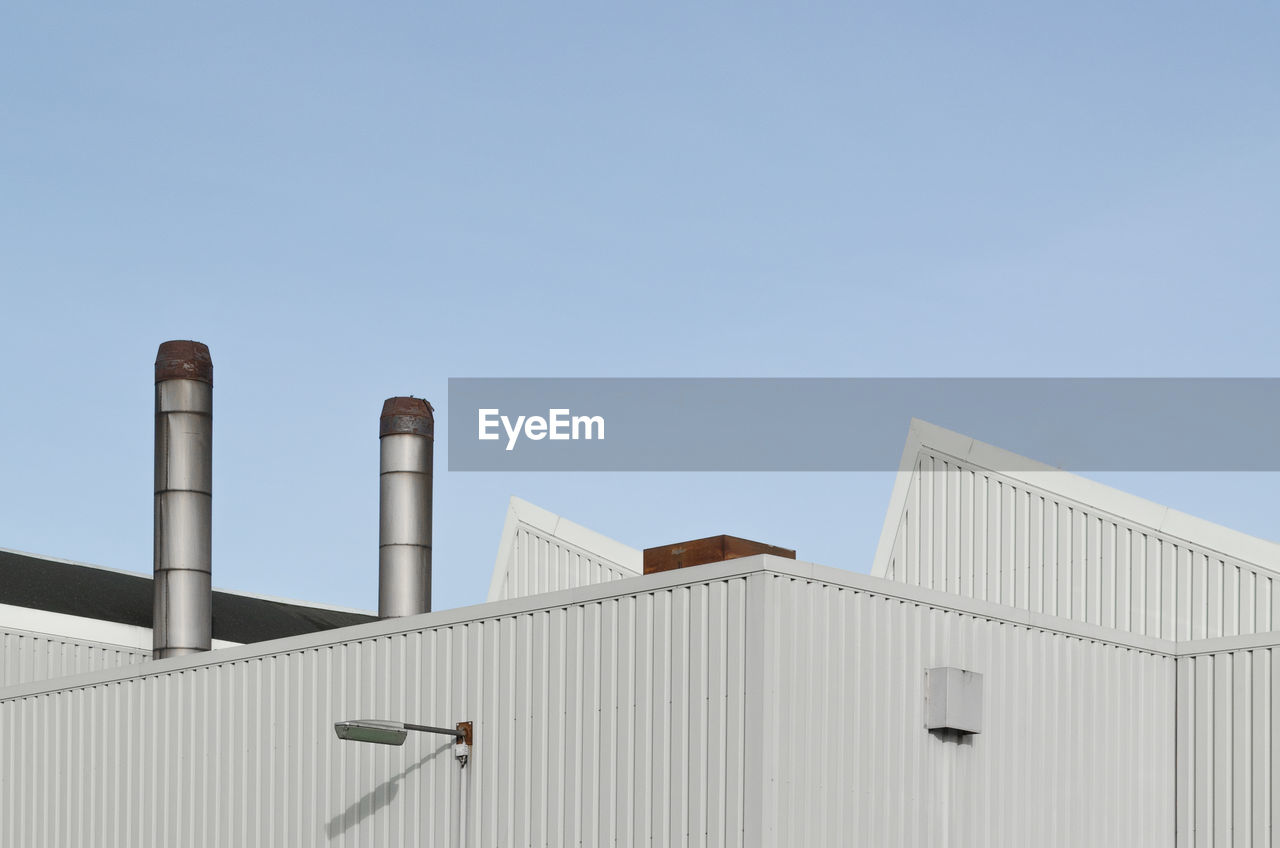 Factory Against Clear Sky