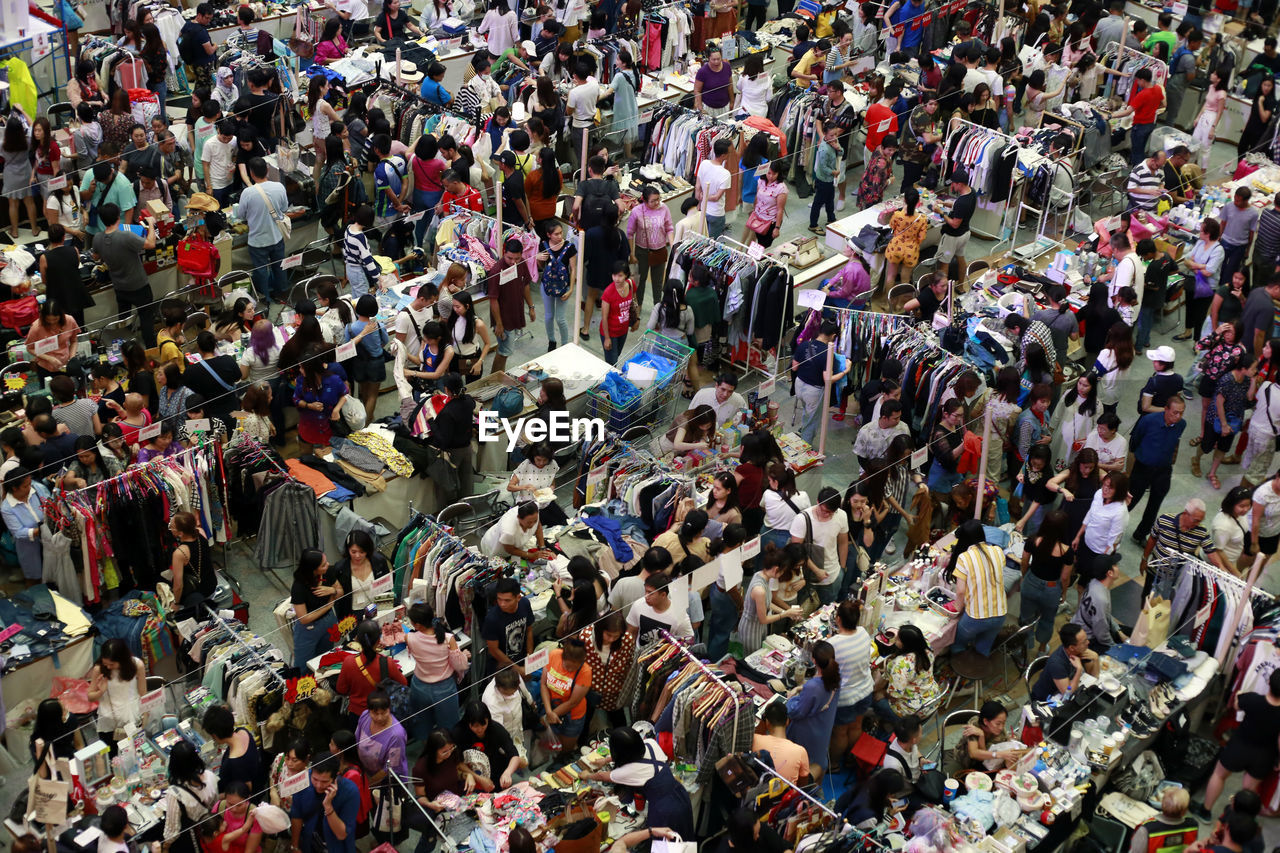 7 september 2019,bagkok,thailand. second hand fashion shopping center in mid year sale season