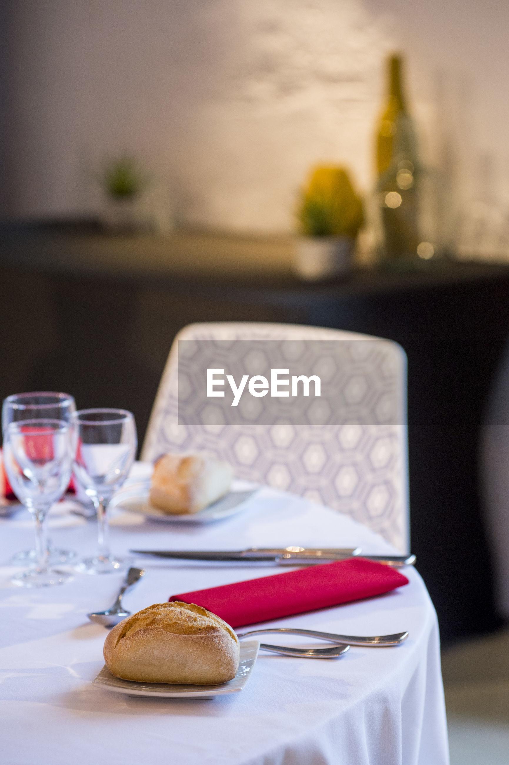 BREAKFAST ON TABLE IN PLATE
