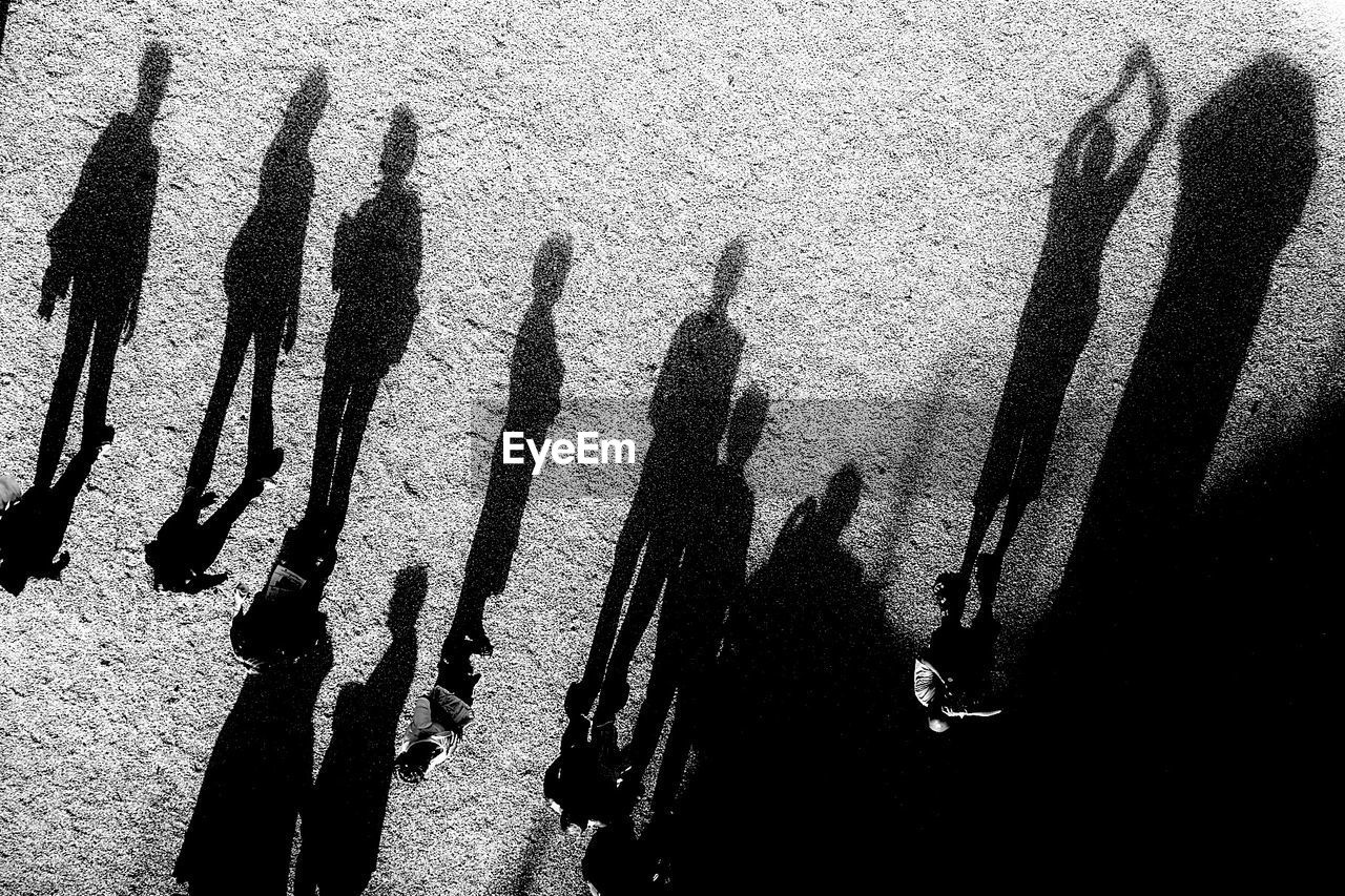 Monochrome Blackandwhite Creative Light And Shadow Shadow People Focus On Shadow