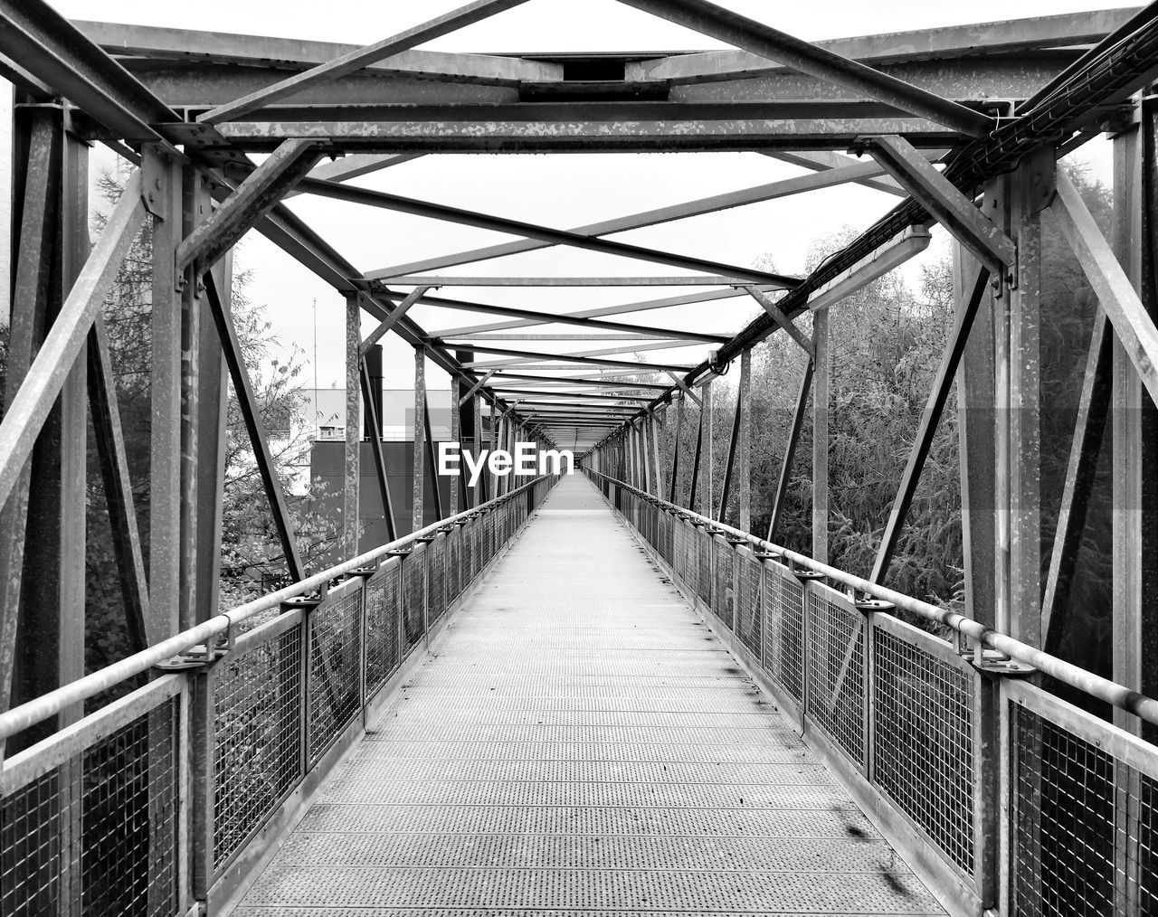 the way forward, direction, bridge, connection, bridge - man made structure, diminishing perspective, metal, built structure, railing, architecture, footbridge, no people, day, transportation, nature, footpath, vanishing point, outdoors, empty, long