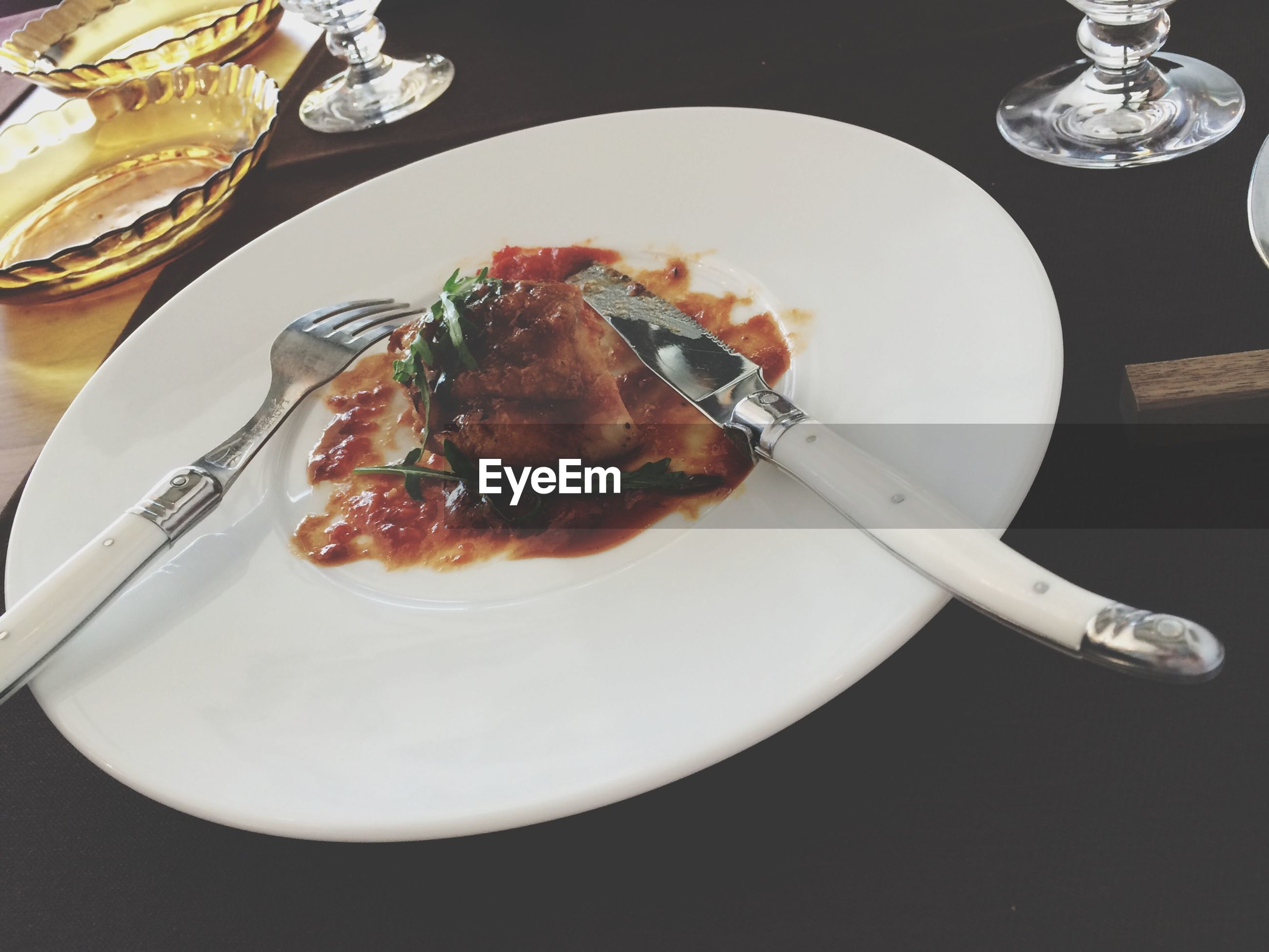 food and drink, food, freshness, indoors, plate, table, still life, ready-to-eat, fork, spoon, healthy eating, serving size, drink, high angle view, served, close-up, indulgence, refreshment, drinking glass, meal