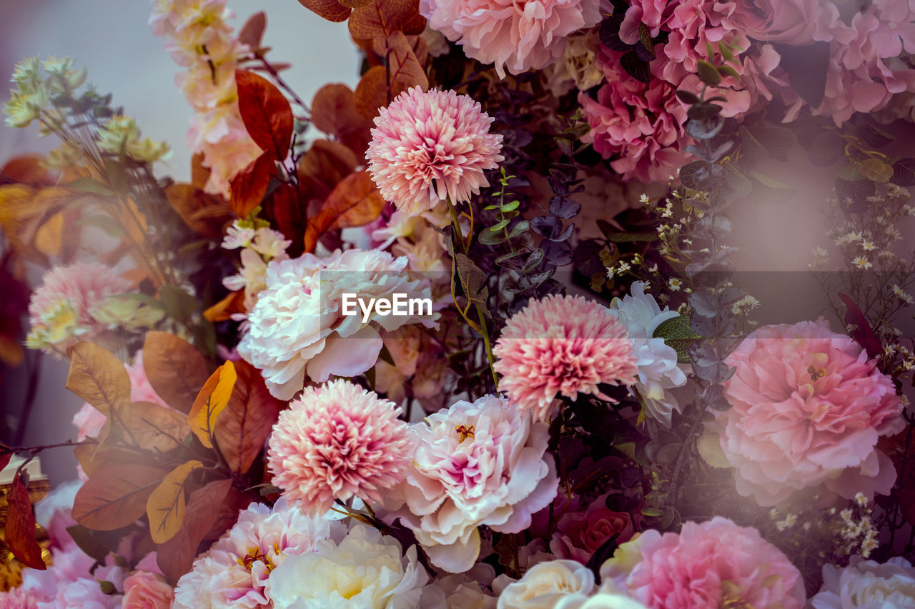 Close-up of flowers in bouquet