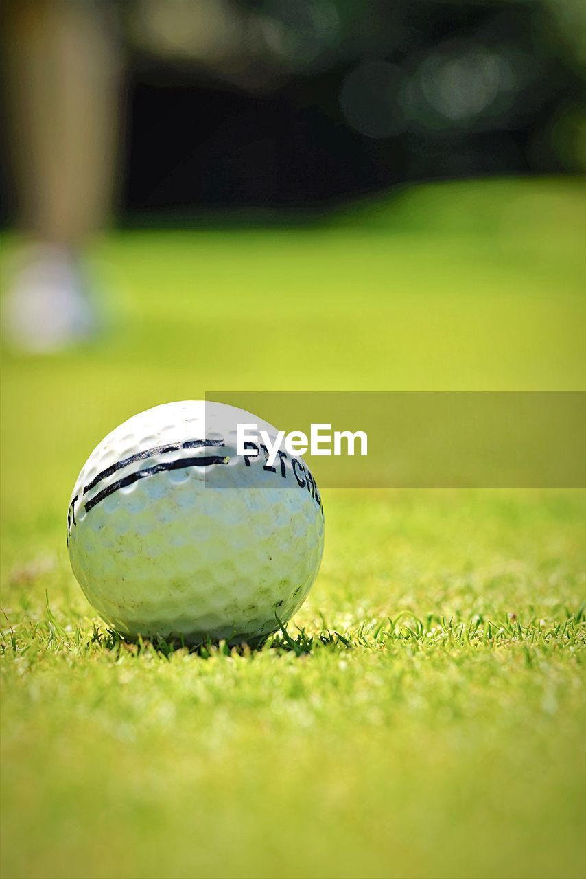 sport, golf, grass, golf ball, golf course, ball, green - golf course, green color, selective focus, putting green, competitive sport, taking a shot - sport, tee, competition, day, no people, outdoors, playing field, close-up, golf club