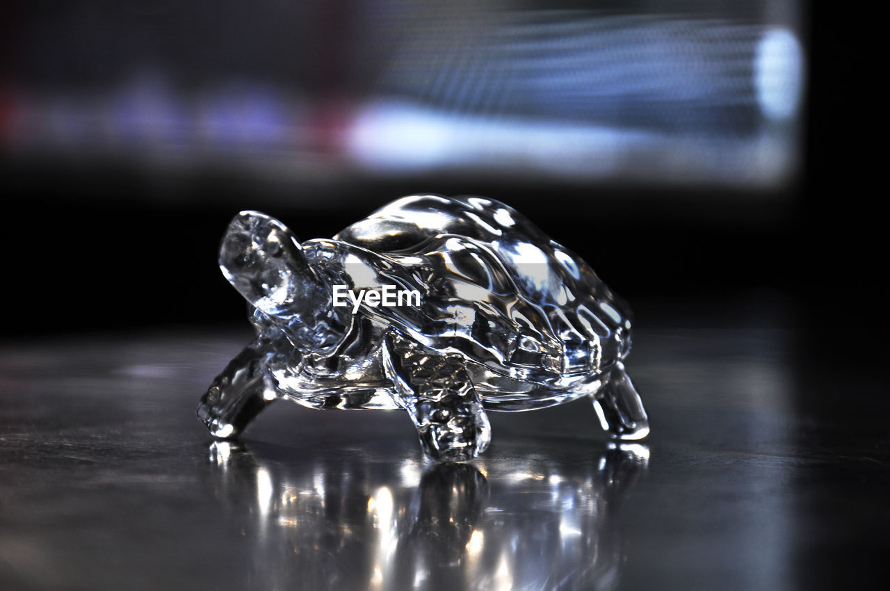 table, reflection, indoors, close-up, still life, no people, wealth, jewelry, diamond - gemstone, selective focus, luxury, metal, ring, shiny, focus on foreground, single object, design, pattern, glass - material, silver colored, black background, precious gem, ornate