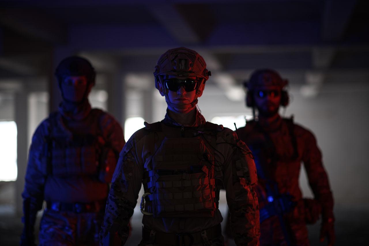 Soldiers standing on floor