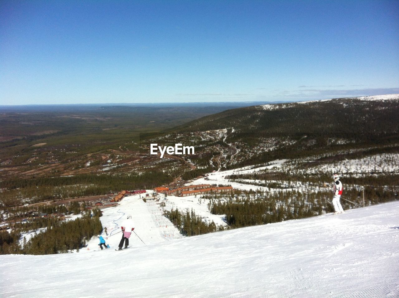 Ski Slope And Wooded Valley