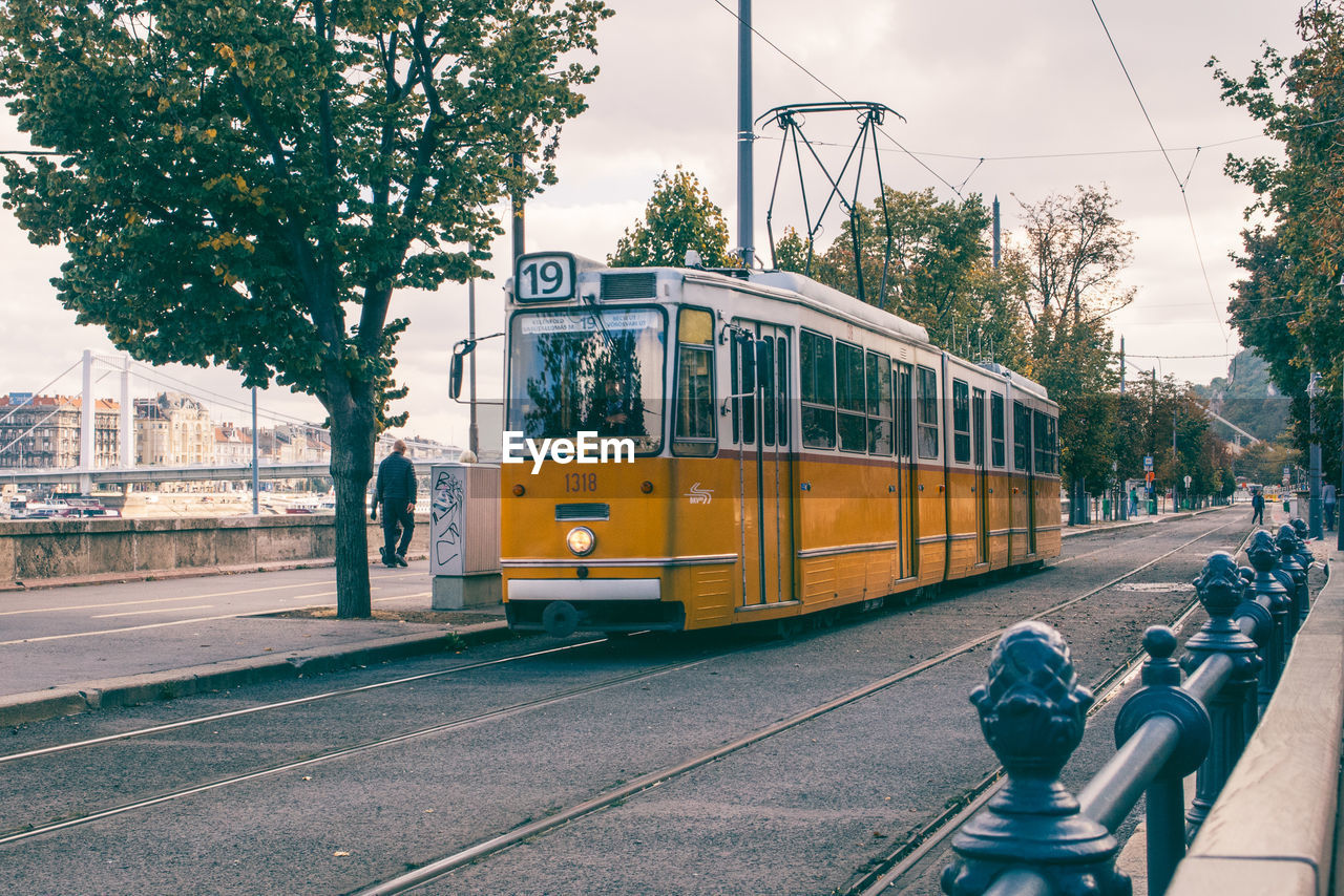 View Of Tram In City
