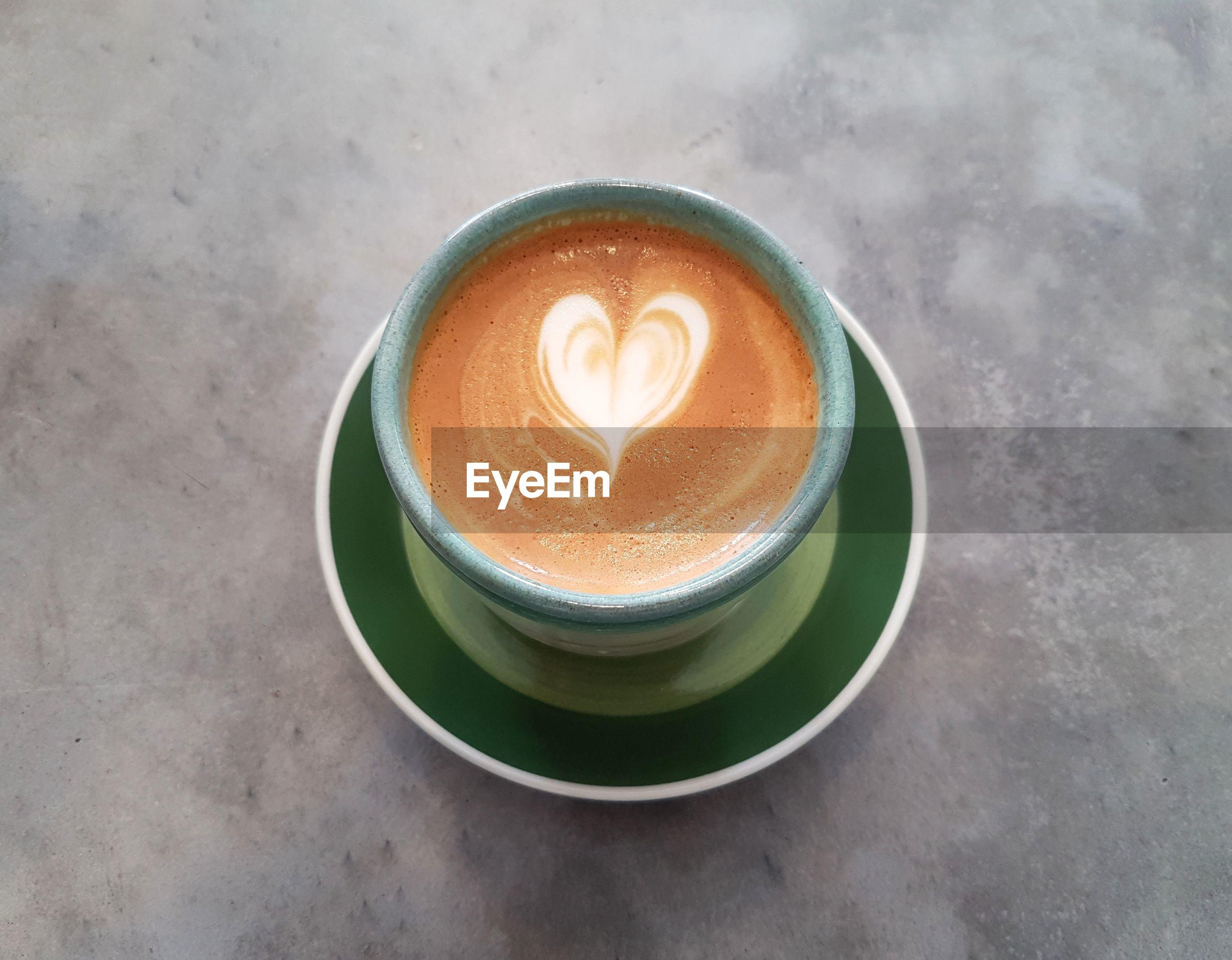 Latte art in heart shape