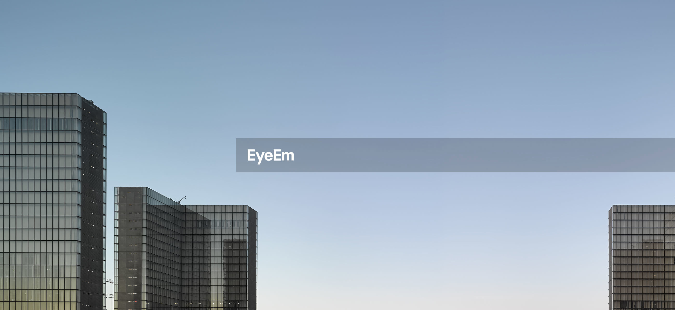 VIEW OF SKYSCRAPERS AGAINST CLEAR SKY