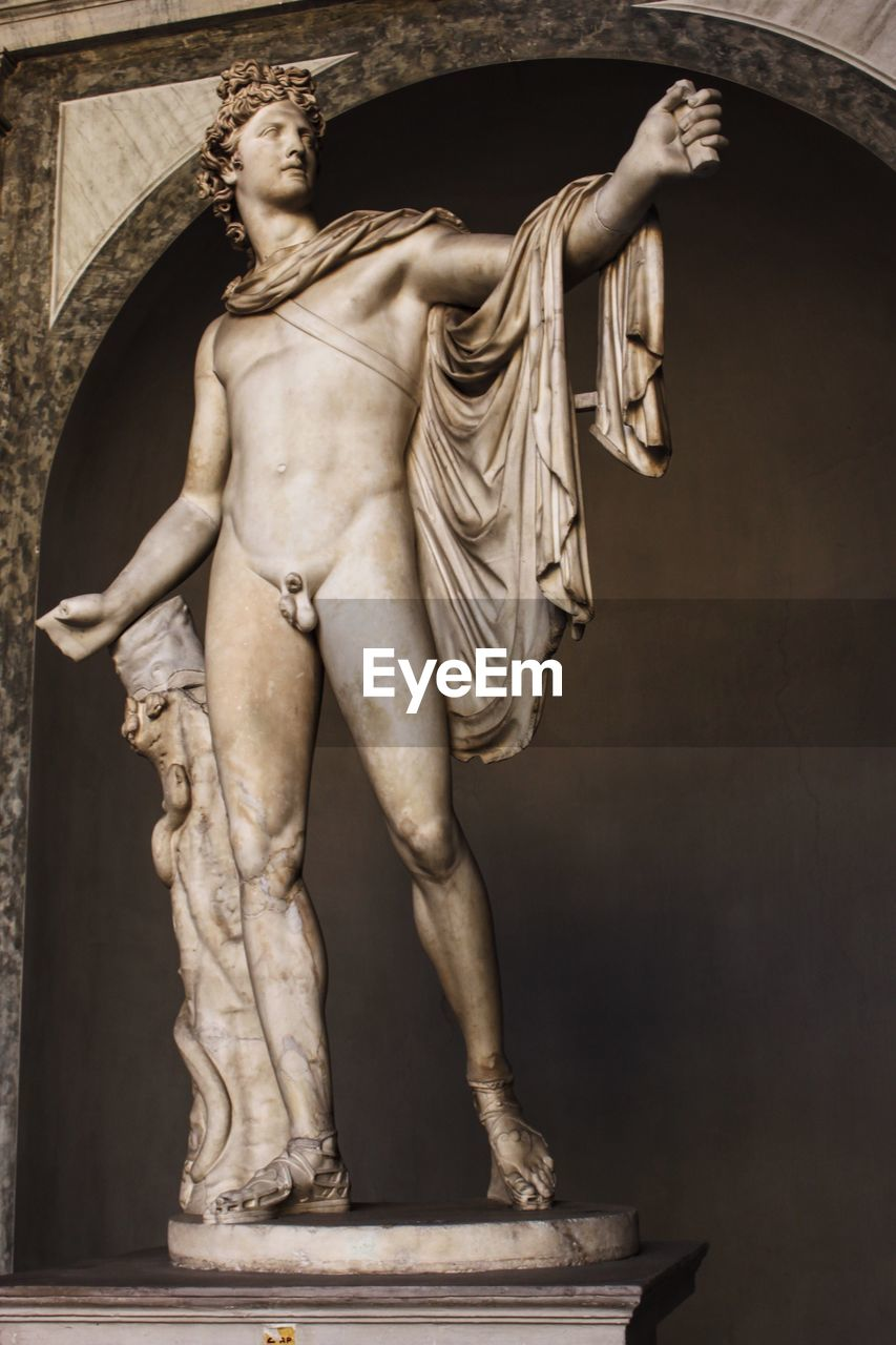statue, human representation, sculpture, indoors, standing, no people, day, close-up