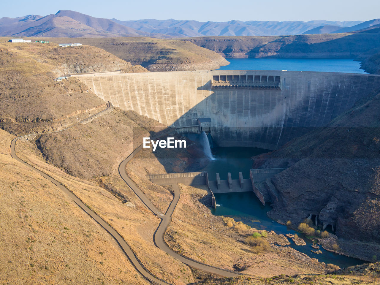 water, hydroelectric power, scenics - nature, environment, dam, built structure, fuel and power generation, architecture, high angle view, day, renewable energy, no people, mountain, nature, landscape, environmental conservation, river, transportation, beauty in nature, outdoors