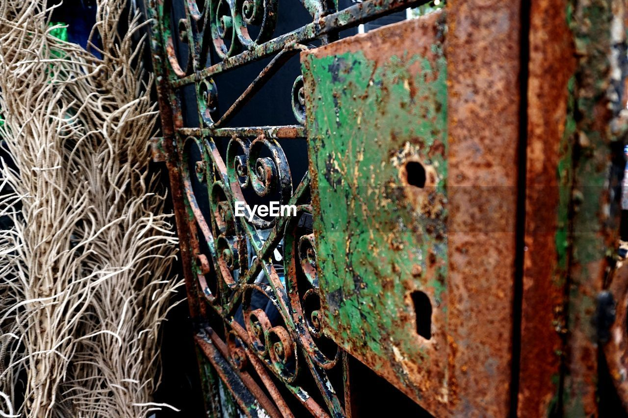 metal, rusty, abandoned, damaged, obsolete, close-up, weathered, no people, day, run-down, outdoors, bad condition