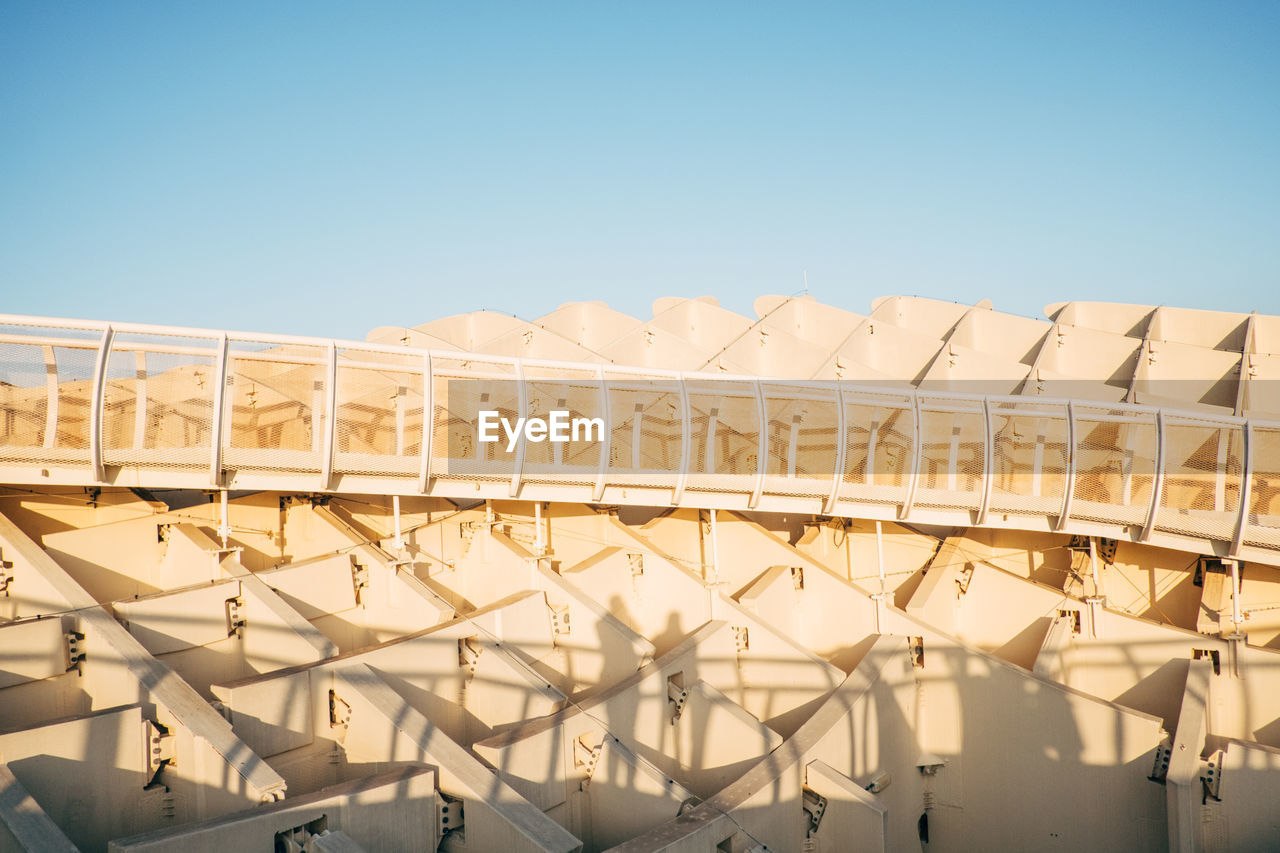 High Angle View Of Metropol Parasol Against Clear Blue Sky