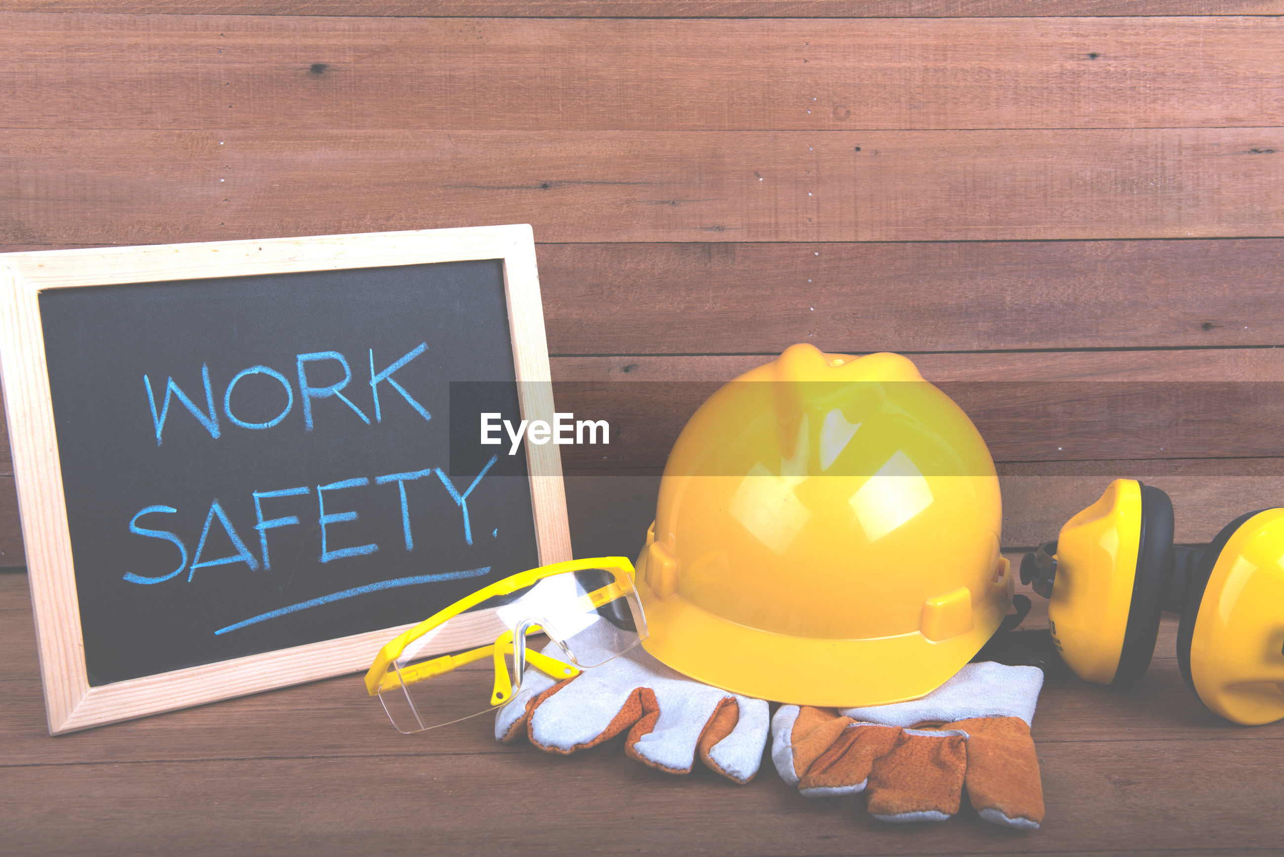 Protective workwear on table