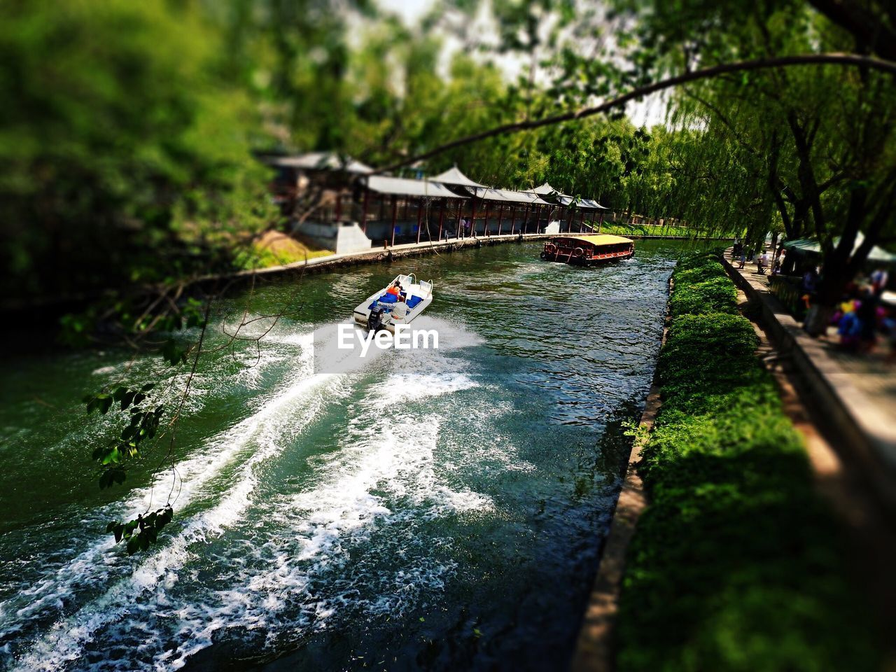 water, river, adventure, day, nautical vessel, real people, motion, outdoors, nature, transportation, tree, leisure activity, speed, oar, one person, men, kayak, rowing, people