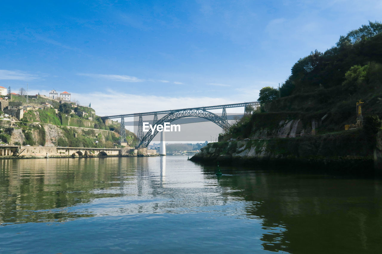 bridge, architecture, water, built structure, connection, bridge - man made structure, transportation, sky, river, nature, no people, waterfront, arch, reflection, day, tree, cloud - sky, outdoors, arch bridge, bay