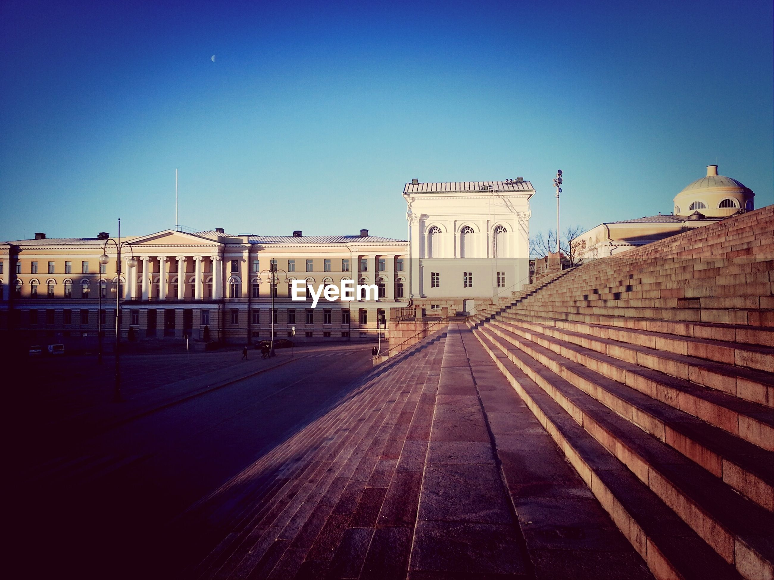 Low angle view of university of helsinki against sky