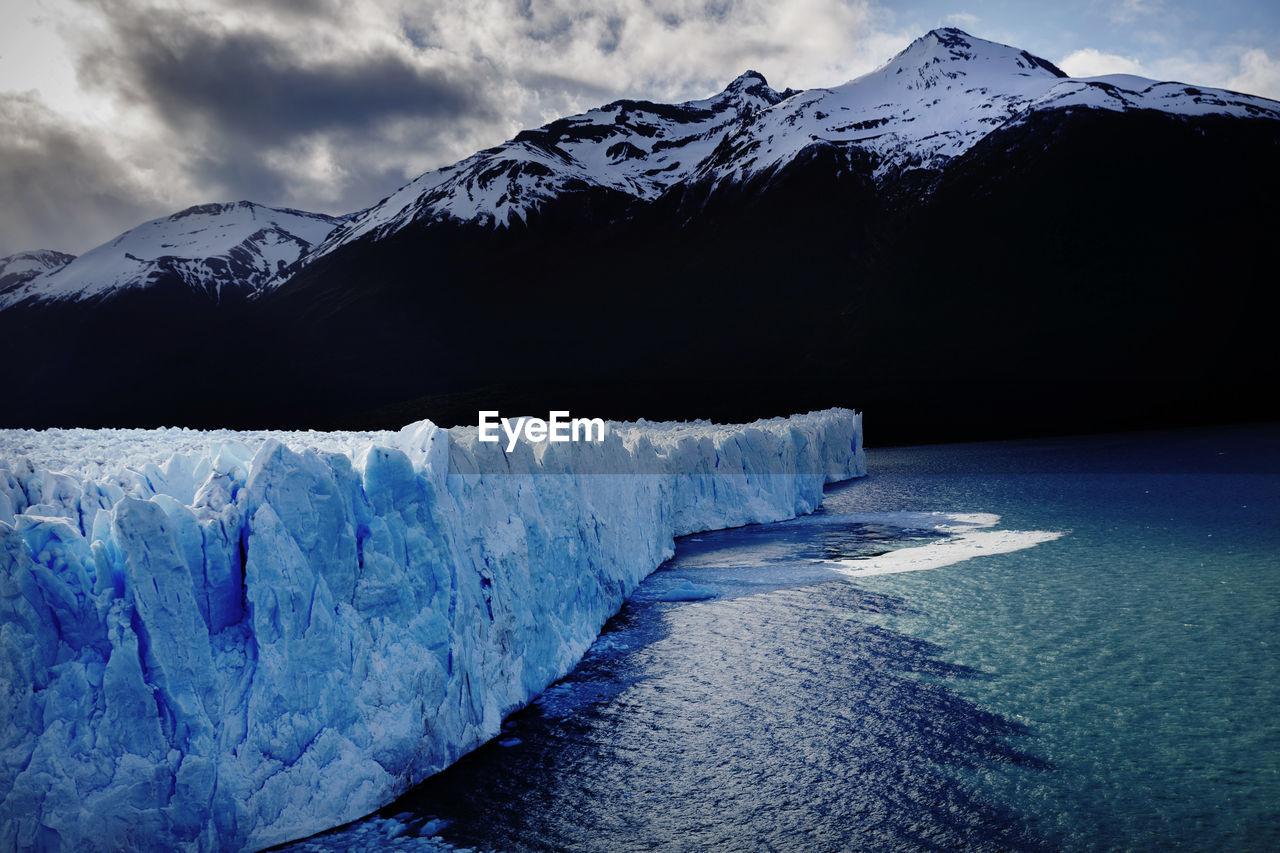 The perito moreno glacier in the los glaciares national park, santa cruz province, argentina.
