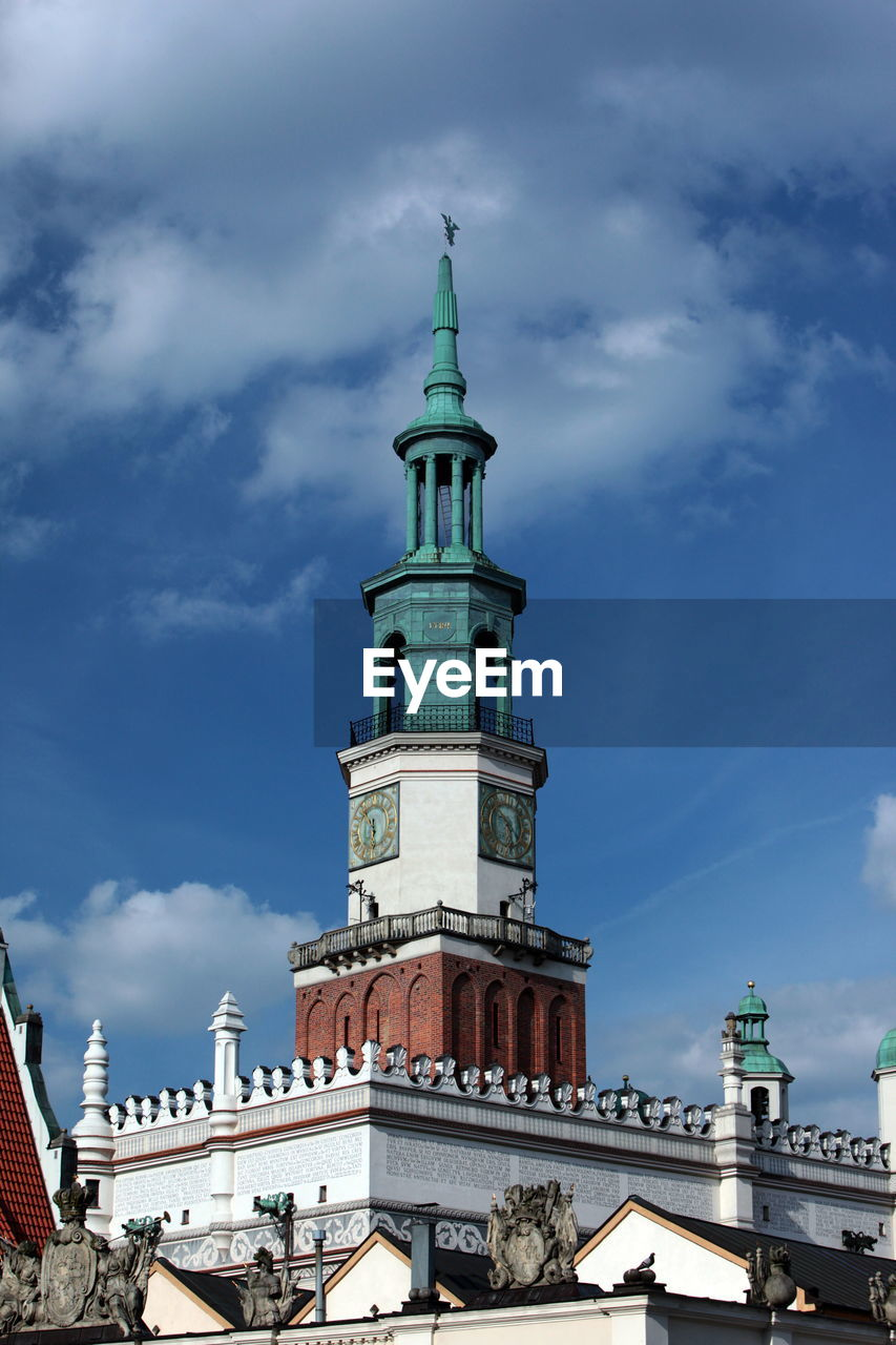 Low Angle View Of Poznan Town Hall Against Sky