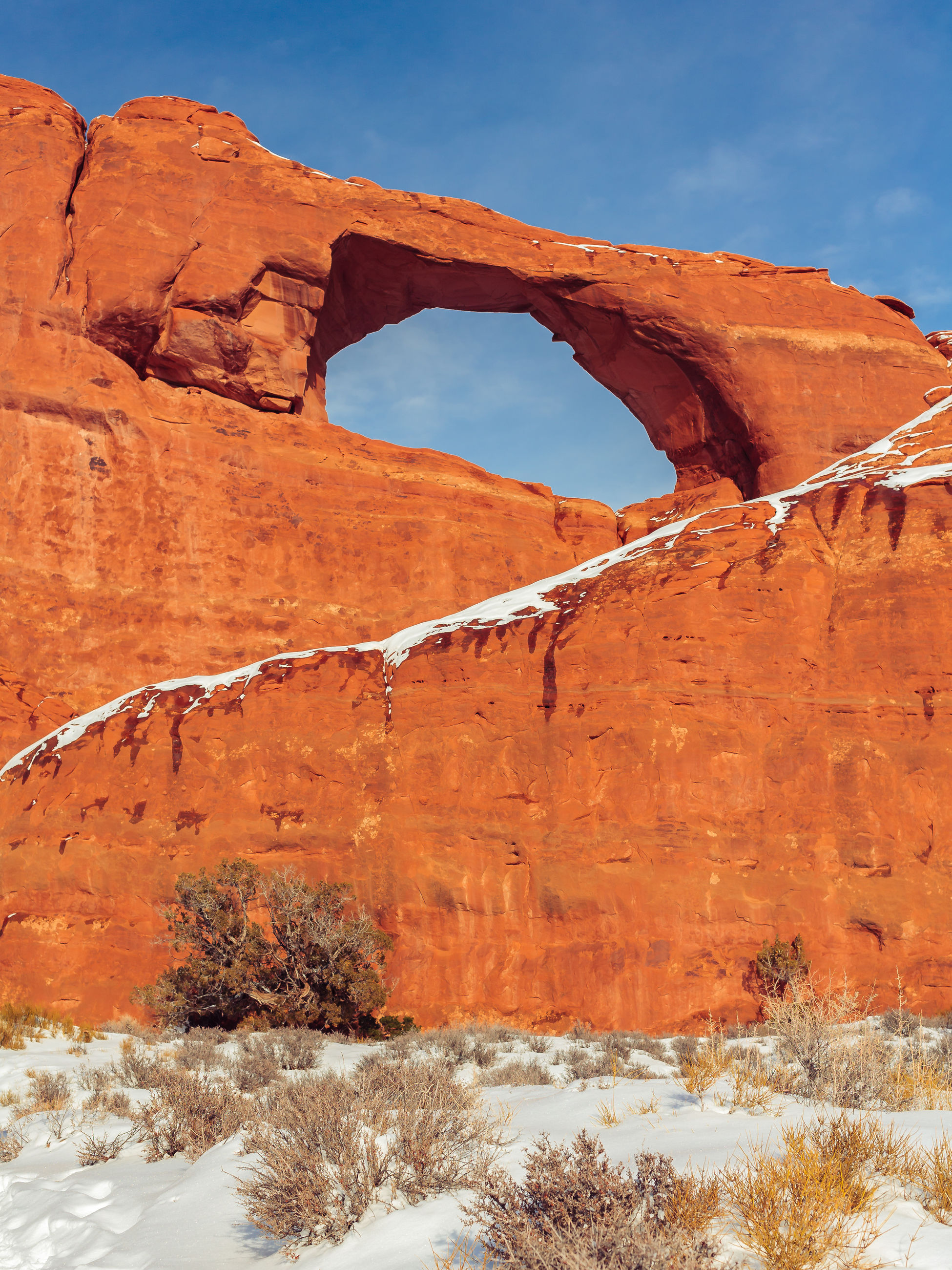 Natural arch against sky at arches national park