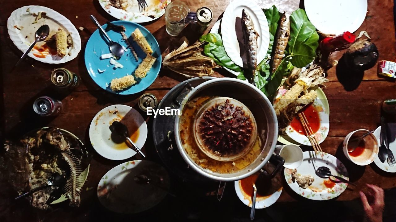 food and drink, plate, table, high angle view, directly above, food, freshness, indoors, bowl, no people, drink, healthy eating, variation, ready-to-eat, day, close-up