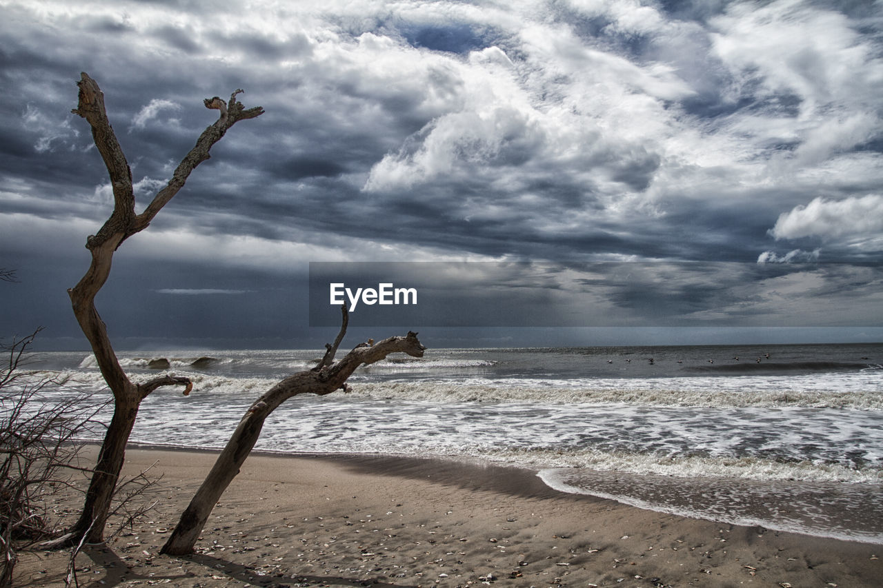 sea, horizon over water, water, sky, cloud - sky, beach, nature, tranquility, shore, scenics, tranquil scene, beauty in nature, outdoors, day, no people, sand, wave