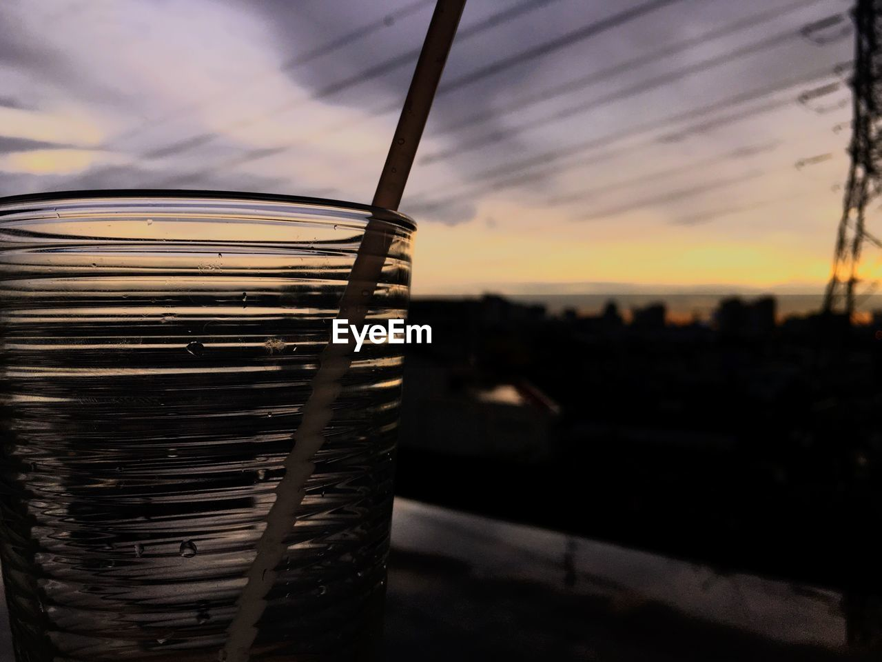 focus on foreground, no people, sky, food and drink, close-up, sunset, drink, outdoors, day, freshness, nature