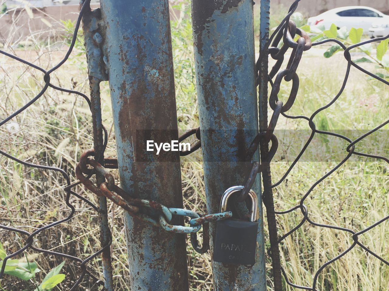 metal, security, protection, padlock, safety, outdoors, lock, day, no people, rusty, chain, close-up, nature