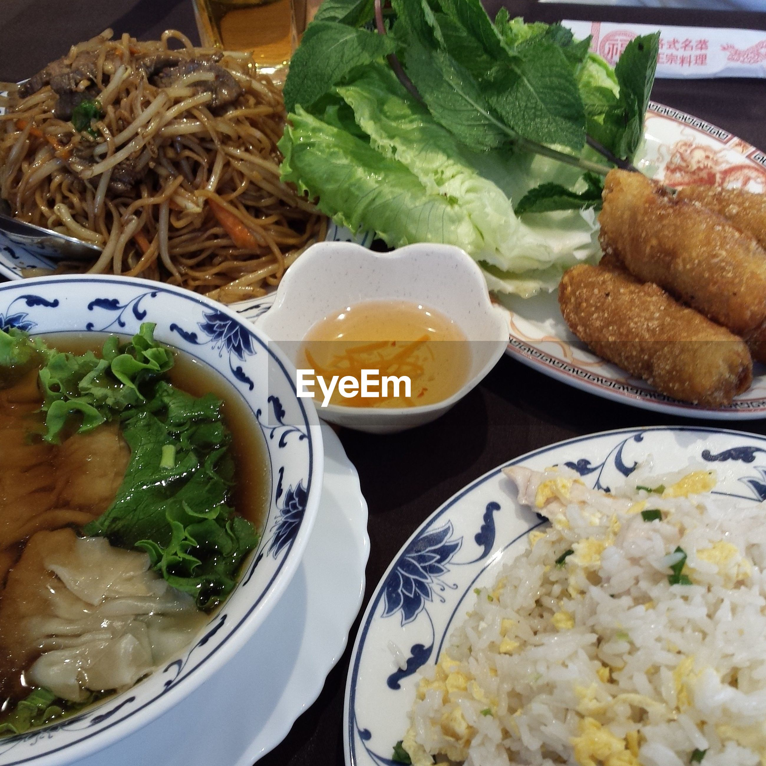 food and drink, food, freshness, indoors, ready-to-eat, healthy eating, plate, meal, still life, vegetable, serving size, bowl, close-up, salad, meat, high angle view, table, indulgence, served, seafood