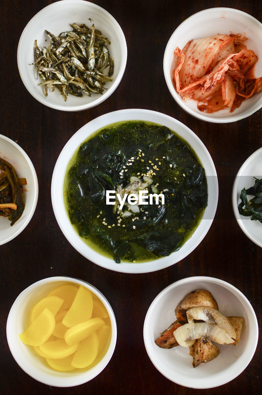 food and drink, food, bowl, freshness, ready-to-eat, table, healthy eating, wellbeing, indoors, directly above, still life, no people, high angle view, meat, plate, soup, close-up, asian food, serving size, italian food, dinner, japanese food, spaghetti