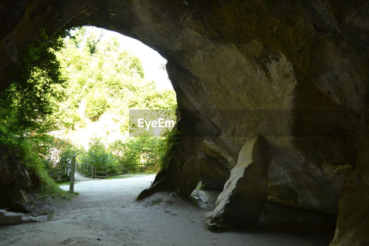 the way forward, rock - object, day, arch, tranquility, nature, no people, indoors, beauty in nature, tree