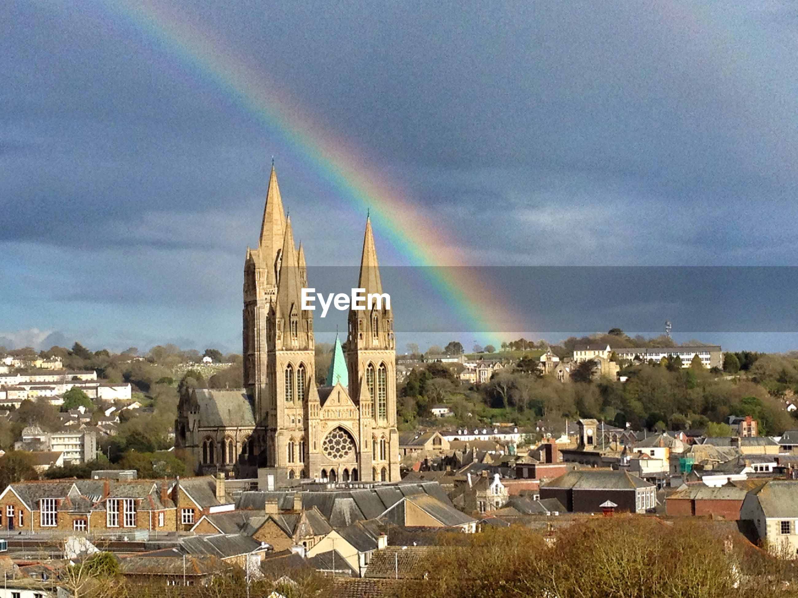 Cathedral with rainbow
