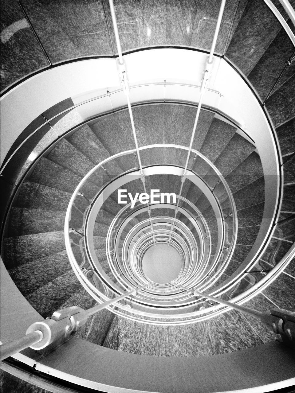 spiral, staircase, steps and staircases, steps, spiral stairs, railing, architecture, stairs, built structure, high angle view, circle, spiral staircase, indoors, hand rail, no people, day