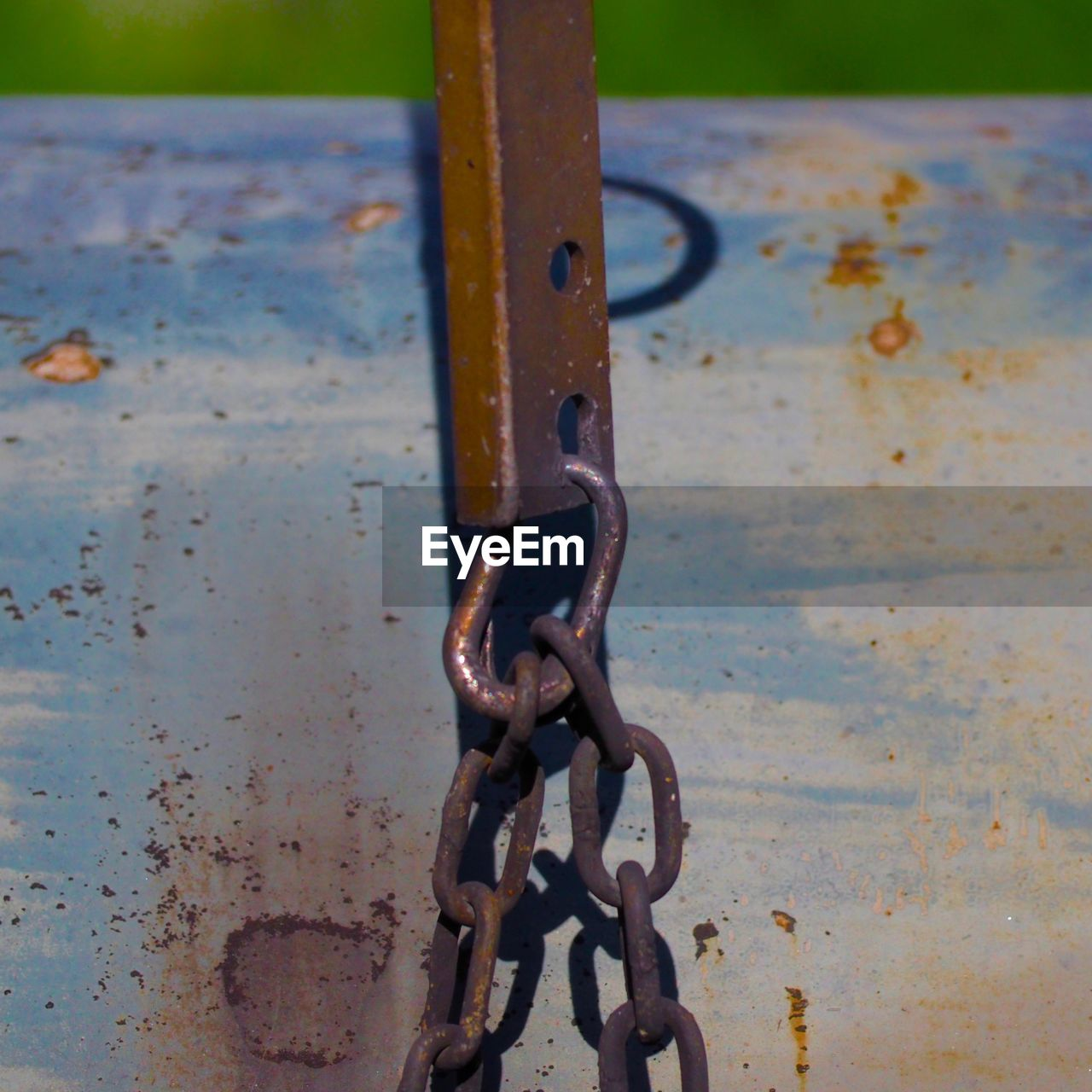 metal, rusty, close-up, chain, no people, outdoors, day