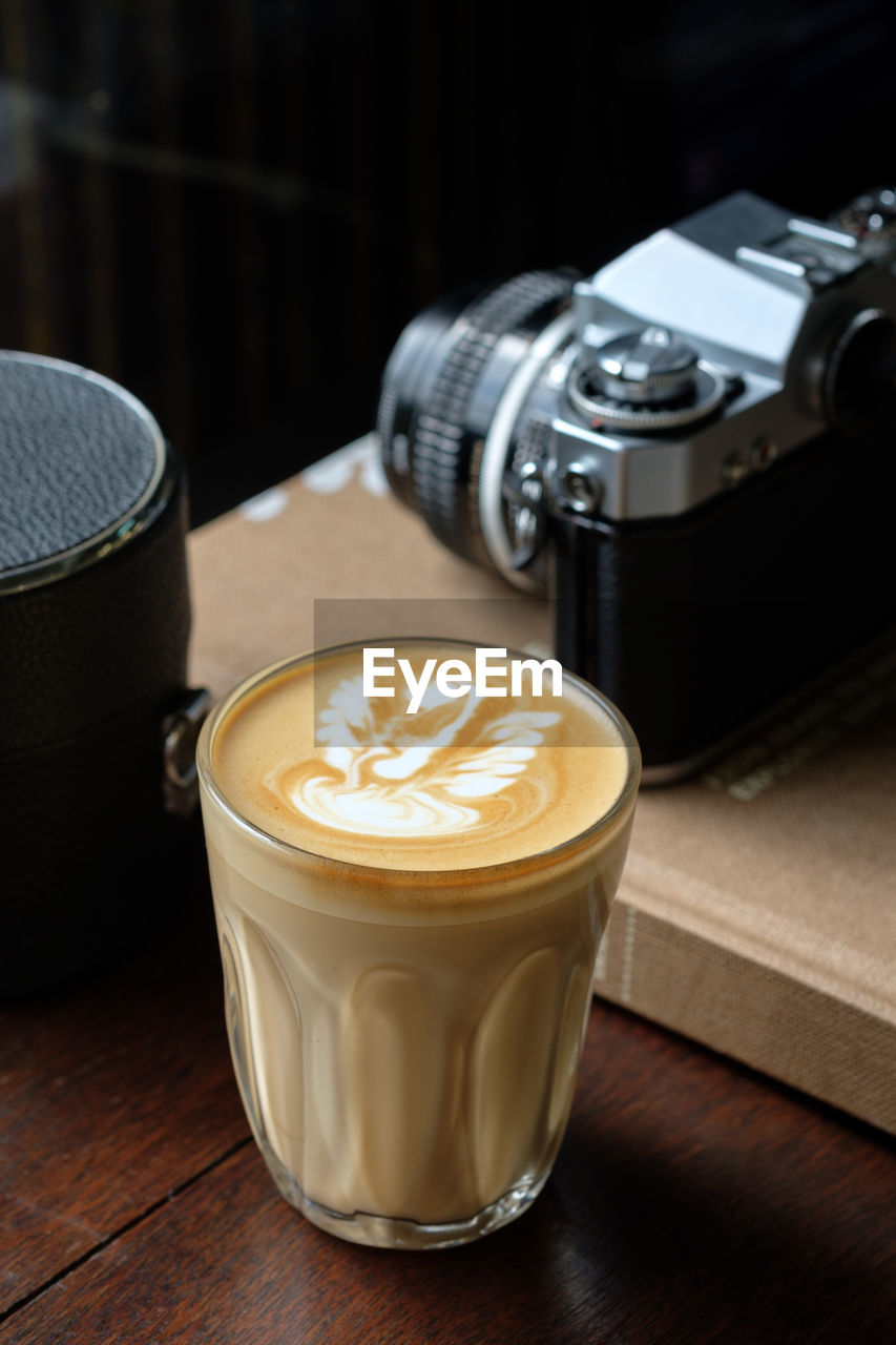 refreshment, coffee, drink, table, food and drink, coffee - drink, frothy drink, still life, cup, coffee cup, mug, indoors, hot drink, froth art, cappuccino, no people, close-up, latte, high angle view, freshness, glass, crockery, non-alcoholic beverage