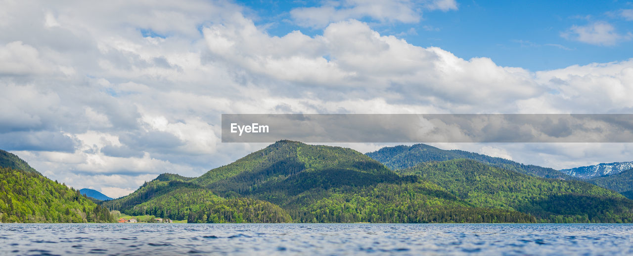 cloud - sky, sky, water, mountain, scenics - nature, beauty in nature, tranquil scene, tranquility, mountain range, nature, day, no people, tree, non-urban scene, lake, idyllic, plant, waterfront, outdoors