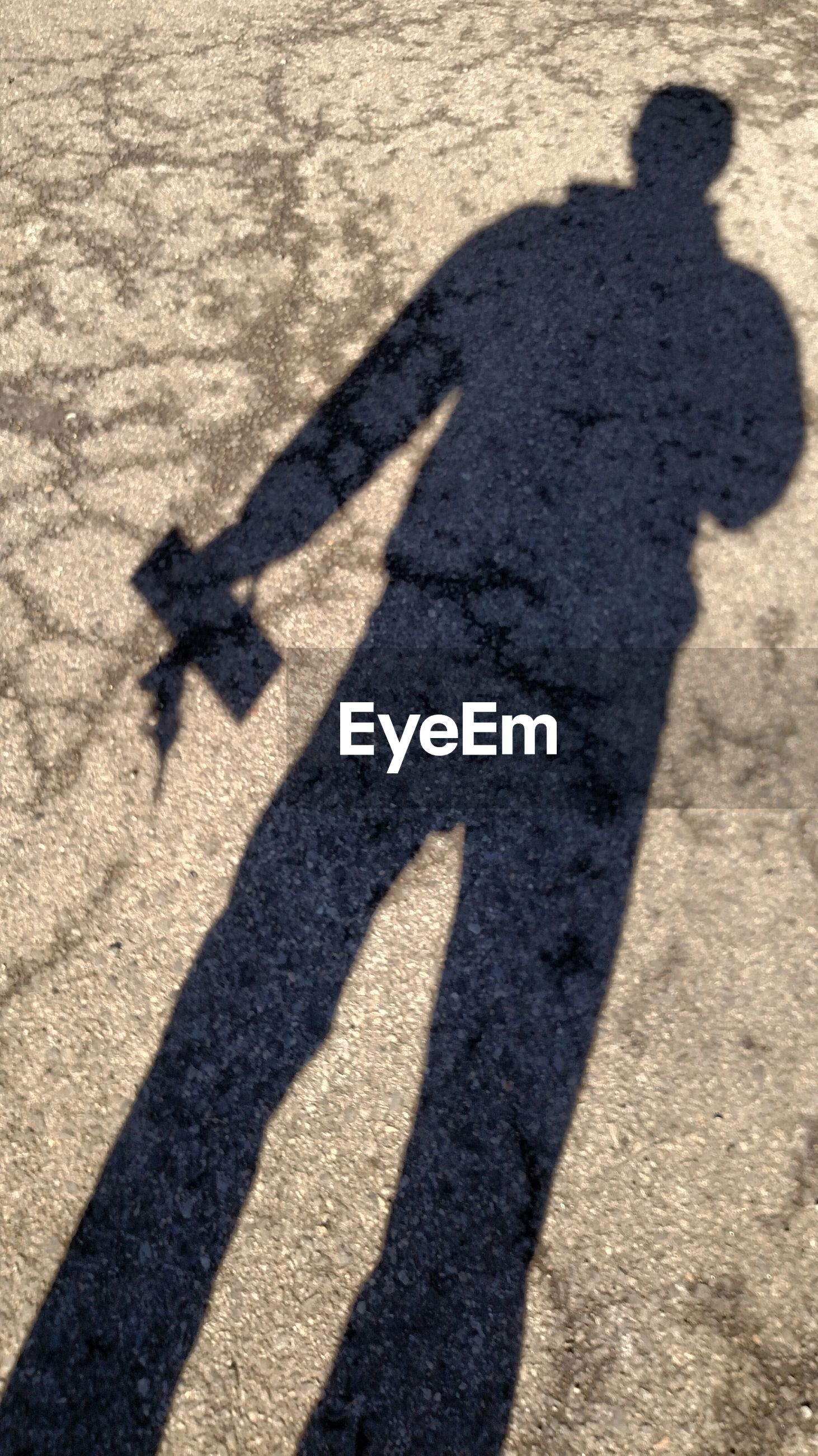 Shadow of a man on the ground