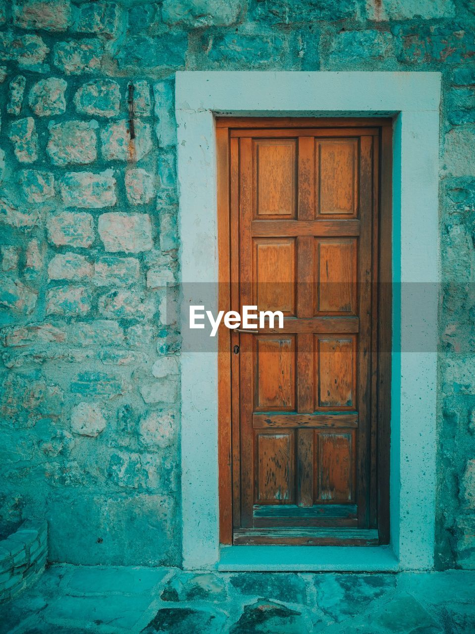 door, building exterior, architecture, built structure, entrance, closed, building, house, wood - material, old, wall - building feature, no people, residential district, security, protection, day, safety, window, outdoors, front door, turquoise colored, window frame