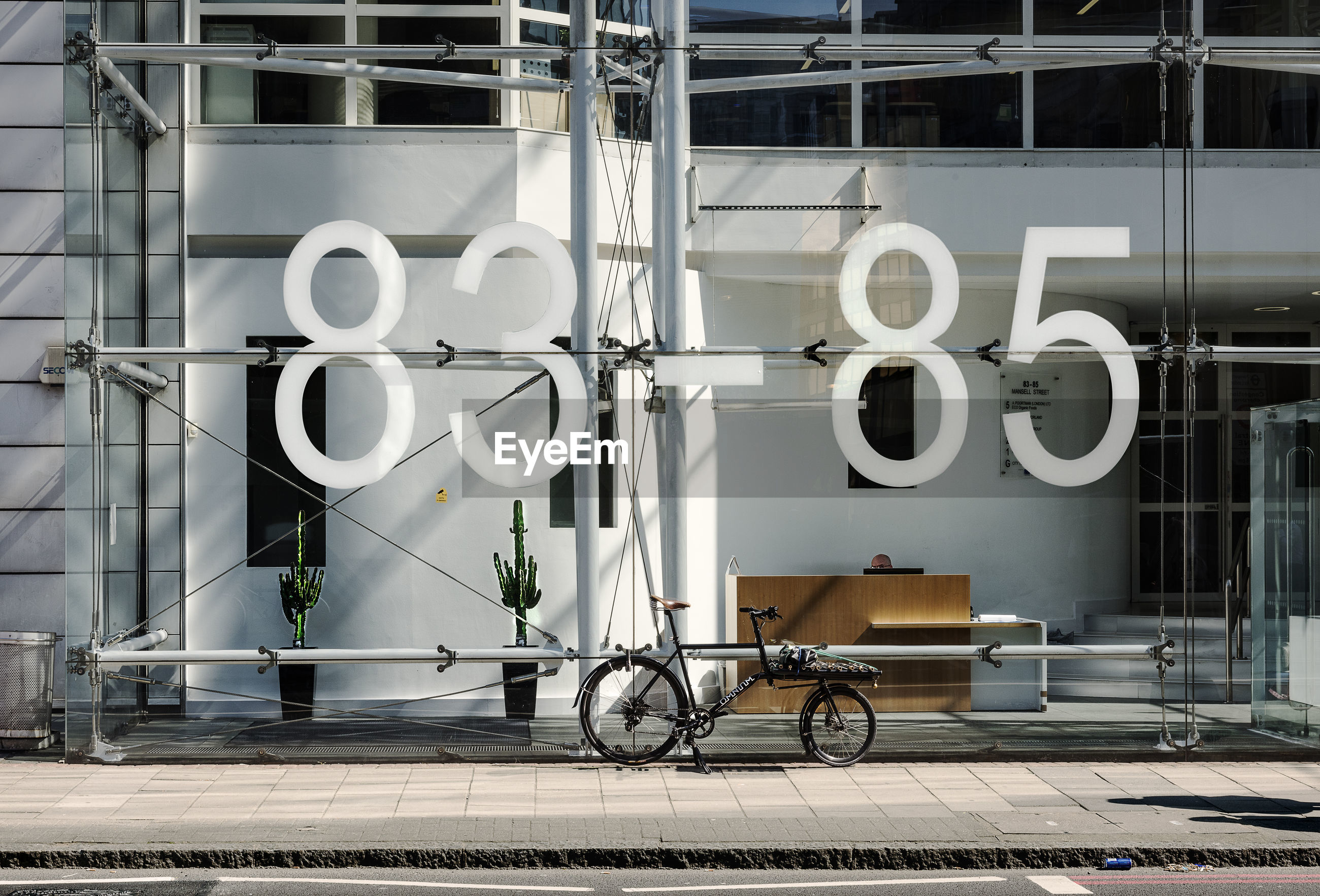 Numbers on glass building