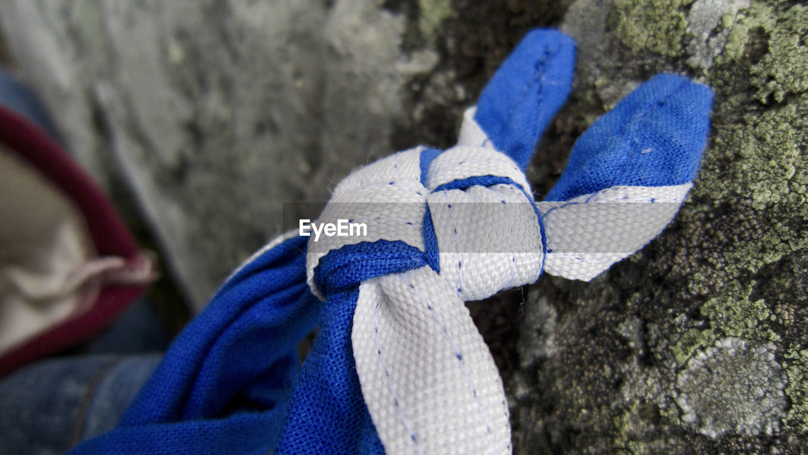 Close-up of tied knot