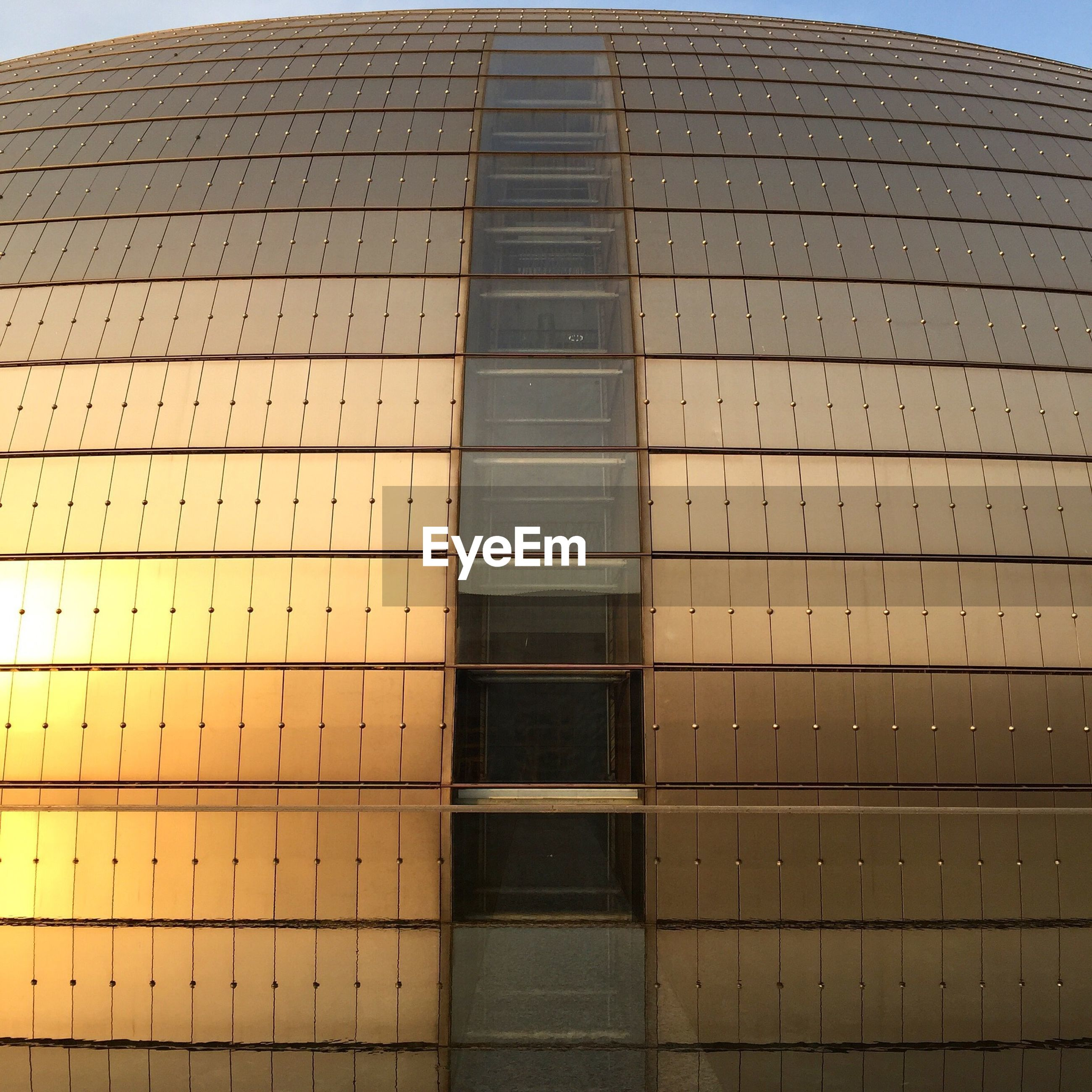 Low angle view of dome building in city