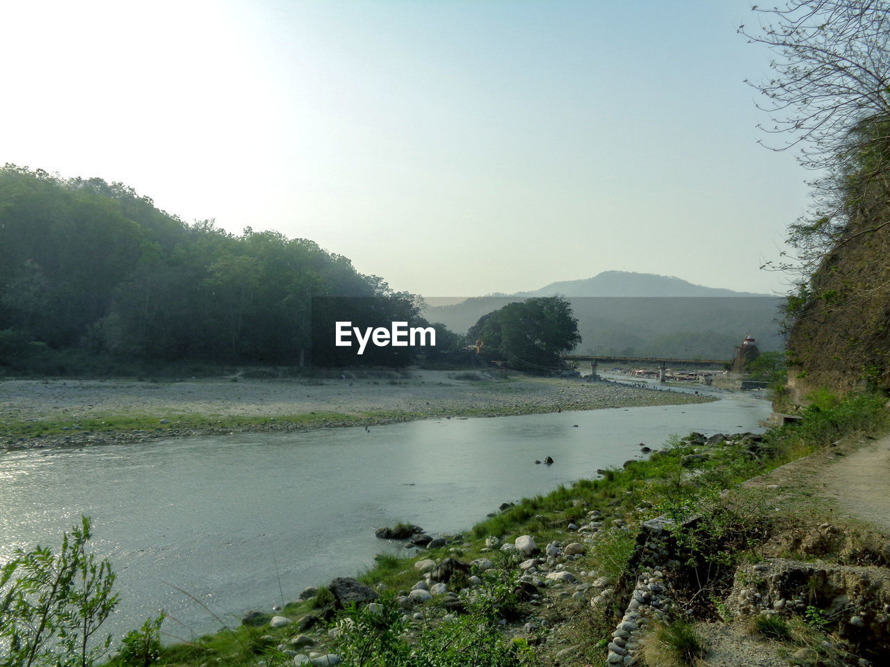 water, tree, sky, tranquility, plant, scenics - nature, tranquil scene, beauty in nature, nature, day, no people, mountain, river, clear sky, non-urban scene, land, outdoors, flowing water