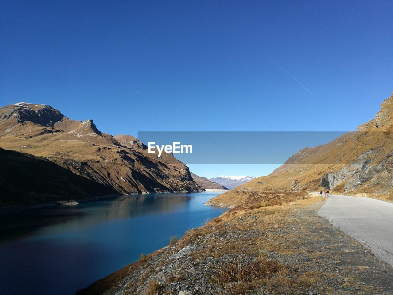 Lac de moiry against clear sky