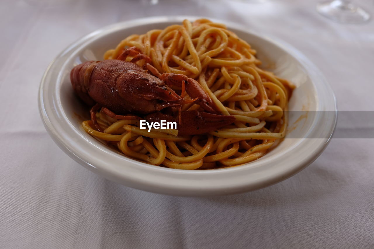 pasta, italian food, spaghetti, food, food and drink, still life, freshness, table, indoors, noodles, ready-to-eat, bowl, no people, plate, close-up, healthy eating, cooked