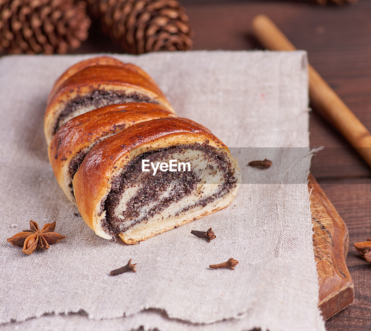 food and drink, food, freshness, still life, sweet food, table, indoors, close-up, no people, ready-to-eat, focus on foreground, brown, cinnamon, baked, dessert, sweet, high angle view, indulgence, spice, star anise, tart - dessert, temptation