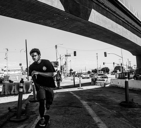 Culver City Streetphoto_bw Street Portrait Skater WalkSee.co